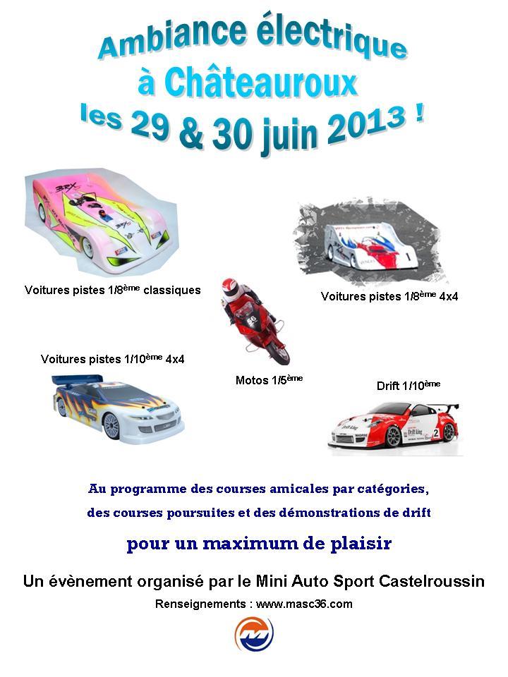 Amicale électrique à Châteauroux les 29 & 30 juin 2013 Affiche